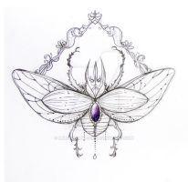 Scarab Tattoo by MsRaggaMuffin