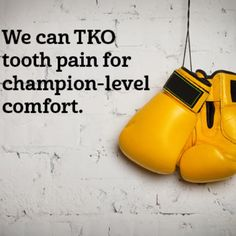 Did you spend the weekend fighting a tooth ache? Give us a call at 480-893-1223 and stop the brawl once and for all at www.TodaysDental.com.