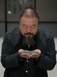 "Born this day Ai Weiwei ARTIST/ ACTIVIST ""Liberty is about our rights to question everything"" Although it is just preferred if we don't......."