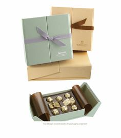 Luxe premium chocolate packaging...  from millercreative.