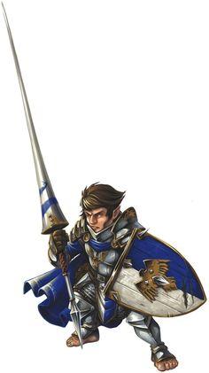 Halfling Cavalier - Pathfinder RPG PFRPG DND D&D d20 fantasy