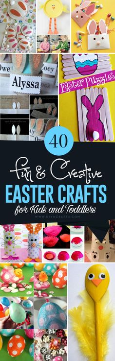 40 Fun and Creative Easter Crafts for Kids and Toddlers - Really cute crafts to keep the little hands busy before Easter! :) Curated and collected by diyncrafts.com team!