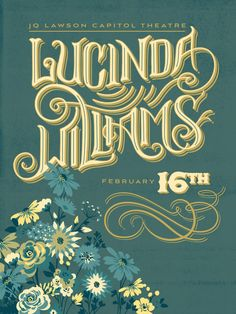 Lucinda Williams - Gig Poster by Courtney Blair