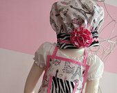 Girls Apron - Little Girls Ruffle Apron - Paris Apron Size 7-10
