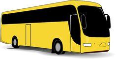 Бесплатное изображение на Pixabay - Автобус, Желтый, Черный