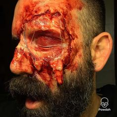 Marc Clancy Special Effects Makeup Artist Special Effects Makeup Artist, Scary Drawings, Facial Scars, Skin Burns, Horror Makeup, Horror Nights, Maquillage Halloween, Sfx Makeup, Instagram Accounts