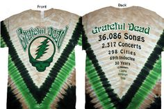 Grateful Dead  Steal Your Face Countdown Tie Dye Shirt