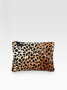 CLARE VIVIER Haircalf Clutch - Leopard   $165.00