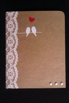 vintage wedding card with kraft paper - card idea 6