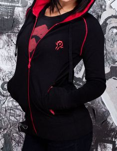 World of Warcraft WOW themed Horde Slouch Sweatshirt in black or red