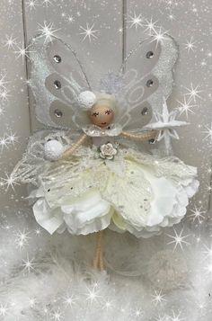Christmas Tree Fairy, Fairy Tree, Christmas Tree Toppers, Christmas Decorations, Christmas Ornaments, Holiday Decor, Yarn Dolls, Angel Crafts, Ornament Tutorial