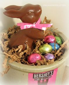 Organized Clutter: Faux Chocolate Easter Bunnies