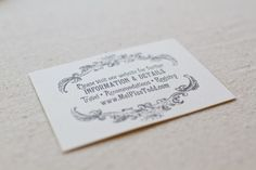 DIY Rubber Stamp Wedding Invitations4 550x366 Melissa + Todds DIY Vintage Inspired Wedding Invitations