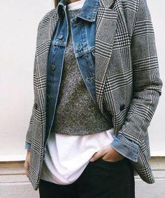 StylingInspo  Winter2017  Tartan  Blazers  Plaid  Winter Checked Blazer  Women Outfit 8a92ad3b5