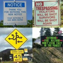 These road signs..