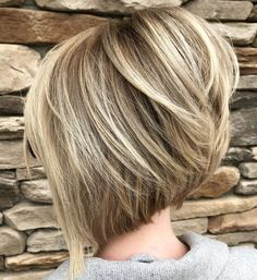 Steeply Angled Bob with Layers