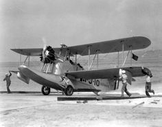 A VJ-1 #1-J-10 Loening OL-8 or 9 taxing out of the water at NAS san Diego in the early 1930s. JMF Haase collection via San Diego AeroS...