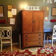 Dining room turned homework stations