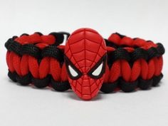 Spiderman Bracelet Spiderman Jewelry Super by CapeCordParacord, $10.99