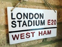 LONDON STADIUM-West Ham United-Football by LOVECERAMICSUK on Etsy West Ham Football, Football Rooms, London Football, West Ham Fans, West Ham United Fc, Pottery Kiln, Soccer Birthday, Earthenware Clay, London Street