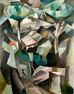 Le Chemin, Paysage à Meudon, 1911. Albert Gleizes. Oil on canvas