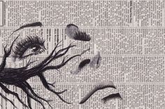 art, black and white, drawing, newspaper, pen, pencil, sketch, talent, tone