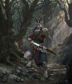 Art by Tang Ning Fantasy Races, High Fantasy, Fantasy Warrior, Fantasy Rpg, Fantasy Concept Art, Fantasy Artwork, Warhammer Fantasy, Dnd Characters, Fantasy Characters