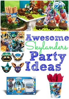 Planning a Skylanders birthday party for your boy? Don't miss the great ideas here to make the party a blast!