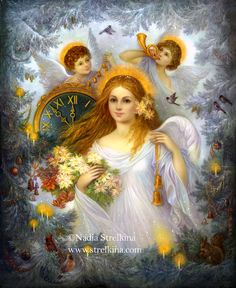 paintings of christmas angels | Christmas Angel by Fantasy-fairy-angel on deviantART