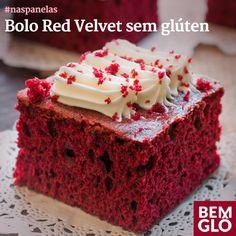 Que tal comer um bolo Red Velvet sem glúten, colorido com beterraba e pra lá de levinho? Vem com a gente aprender! Real Food Recipes, Cake Recipes, Dessert Recipes, Bolo Red Velvet Receita, Sin Gluten, Gluten Free Baking, Healthy Sweets, Cupcakes, Homemade Cakes
