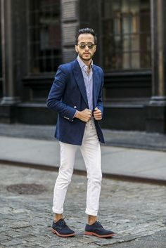 The Metro Man goes sockless in AX jeans and a J. Lindeberg blazer