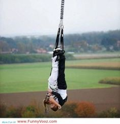 kissing while bungee jumping... talk about an adrenaline rush!