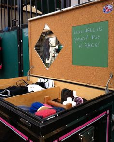 Every tack trunk should have this note written in it...