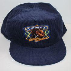 d85f05e7723 Vintage Camel Joe Cigarettes Trucker Hat Snapback Corduroy Blue  Unbranded   TruckerHat Corduroy
