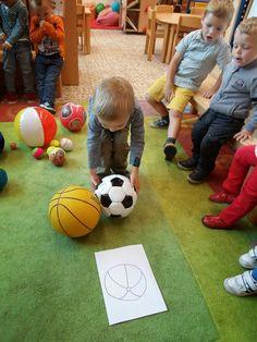 ballen sorteren: groot en klein