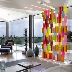 Pxl BY YELLOW GOAT DESIGN Our version of a stained glass window. These panels simply slot into each other to form a wall of coloured light. ...