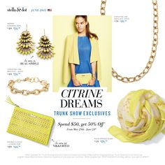 Be a citrine dream with these gorgeous Trunk Show Exclusives!
