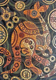 #aboriginal #australian #kangaroo #dot #artkangaroo Australian aboriginal dot art Aboriginal Art Symbols, Aboriginal Dot Painting, Dot Art Painting, Mandala Painting, Mandala Art, Aboriginal Art Australian, Indigenous Australian Art, Indigenous Art, Art Brut