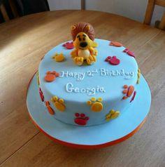 Raa Raa the Noisy Lion Birthday Cake. Lion Party, 1st Bday Cake, Birthday Ideas, Birthday Parties, Lion Birthday, Nottingham, Celebration Cakes, Becca, First Birthdays