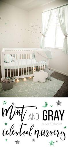 Mint and Gray Celestial Nursery