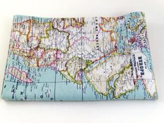 Vintage world map cotton linen fabric curtain upholstery 4 world map fabric craft supply map fabric world fabric blue fabric half yard yardage ice blue fabric mint fabric gumiabroncs Choice Image