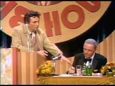 Peter Falk, that is Columbo, performs humorously at Frank Sinatra roast.