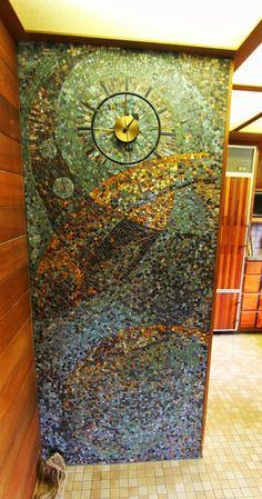 I love modern mosaics...  Denwar Pottery Home, Esther and Jo Dendel, Costa Mesa, CA, mid-century modern