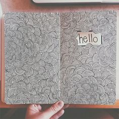 Starting a sketchbook with mostly typography sketches, send me quotes/sayings you think might be fun or inspiring to design! Drawn in one of my moleskine sketchbooks. Moleskine Sketchbook, Arte Sketchbook, Sketchbooks, Doodle Inspiration, Art Journal Inspiration, Doodle Patterns, Zentangle Patterns, Doodle Drawings, Doodle Art