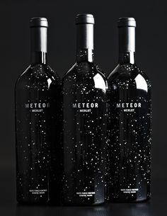 Meteor-Merlot Very nice bottle design by WORK Labs for White Fences Vineyard's Meteor Merlot.