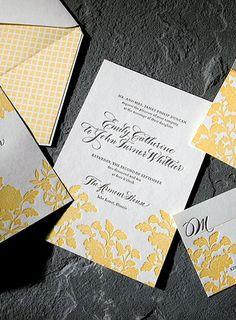 Smock, Custom Letterpress Wedding Invitations