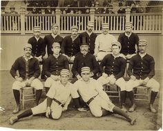 Cardigans, striped caps, and top hats.  Baseball in style.  Philadelphia Baseball Club, 1887.