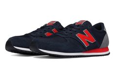 420 70s Running Textile, Navy with Red