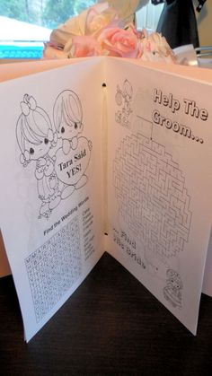 wedding kids activity book 2
