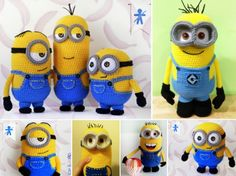 Crochet Amigurumi Ideas Patrones Amigurumi Minion ganchillo gratis - DIY Crochet Minion Free Patterns Round Up: Crochet Minion Hat, Crochet Minion Pillow, Minion Booties, Minion Blanket and More. Crochet Diy, Crochet For Kids, Crochet Crafts, Crochet Dolls, Crochet Projects, Crochet Ideas, Diy Projects, Diy Crafts, Minion Pattern